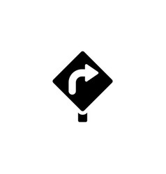 turn right icon vector image
