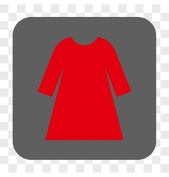 Woman Dress Rounded Square Button vector