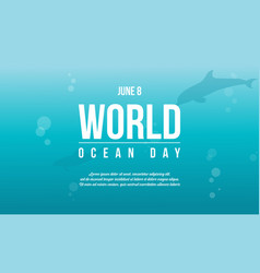 world ocean day style background vector image