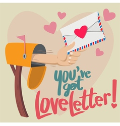 You have Got Love Letter vector image