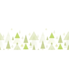 Abstract pine tree forest horizontal seamless vector