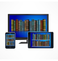 Electronic library devices vector image