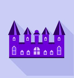 purple kingdom palace icon flat style vector image vector image