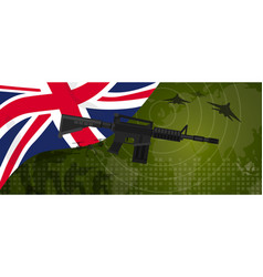 uk united kingdom england britain military power vector image