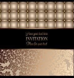 vintage card design for greeting card invitation vector image