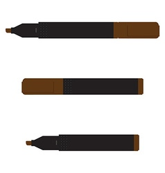 Brown marker set vector image vector image