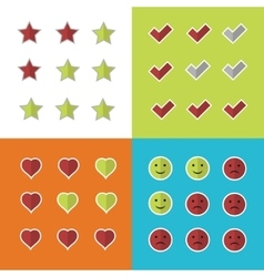 Consumer rating and satisfaction clients feedback vector image vector image