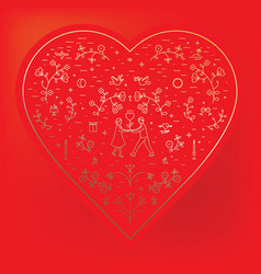 for st valentine s day heart vector image vector image