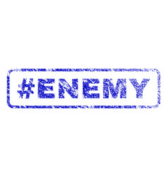 hashtag enemy rubber stamp vector image vector image