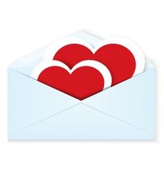 Heart stickers envelope vector image vector image