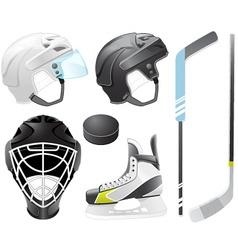 hockey accessories vector image