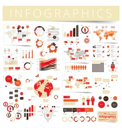 infographics set clear red vector image vector image