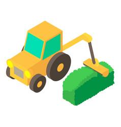 lawnmower icon isometric 3d style vector image