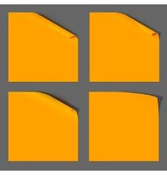 Orange Paper Curled Corner vector image vector image