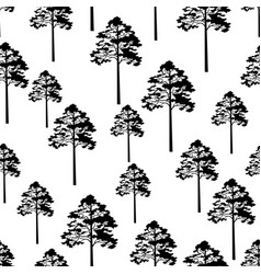 Pine trees seamless vector