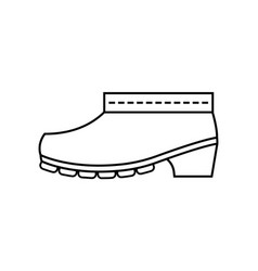 rubber boots protective shoes flat linear icon vector image vector image