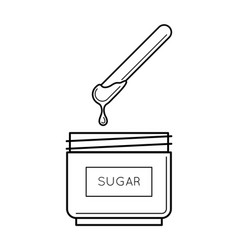 sugaring paste box with a stick vector image vector image