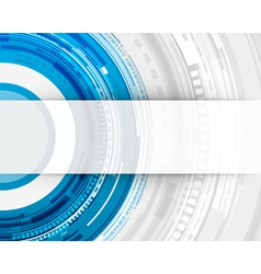 Abstract technology circles and transparent paper vector image vector image
