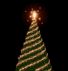 background with green christmas tree vector image vector image