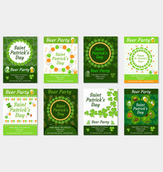 collection of st patrick s day invitation poster vector image