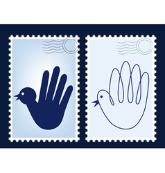 postage stamp post vector image