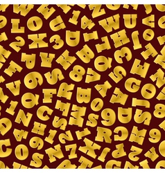 Seamless background of gold letters vector image