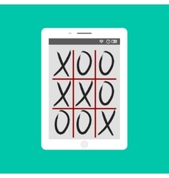 Tic-tac-toe game mobile app concept vector
