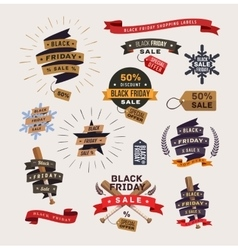 Black Friday shopping labels vector image vector image