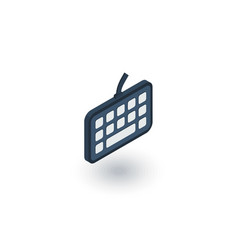 keyboard buttons isometric flat icon 3d vector image