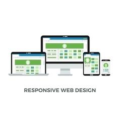 Responsive web design concept Website page vector image vector image