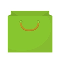 Shopping bag icon flat style Paper bags isolated vector image