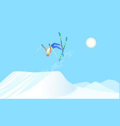 skier over the springboard vector image
