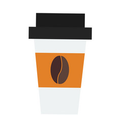 Take out drink cup vector