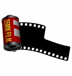 35mm film roll vector image