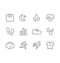Activity Tracking Icons vector