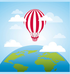 air balloon flying vector image
