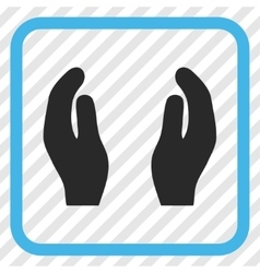 Applause Hands Icon In a Frame vector