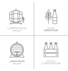 Beer logos design vector