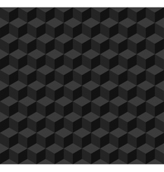 Black geometric seamless background vector image