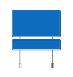 Blank blue road sign vector