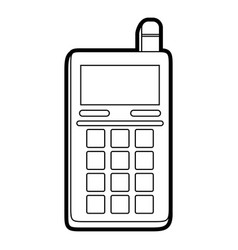 blank screen cellphone with buttons and vector image