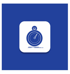 Blue round button for done fast optimization vector