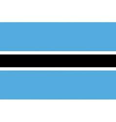 botswanan flag vector image