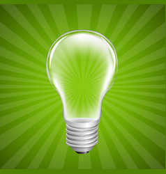 bulb with sunburst background vector image