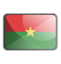 burkina faso flag on white background vector image