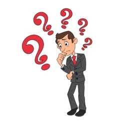 Businessman is looking for solution 3 vector image