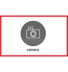 Camera contour outline vector image