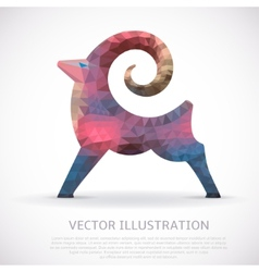 Colorful geometric shape of the Goat vector image