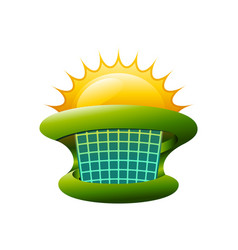 colorful solar energy symbol vector image