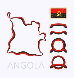 Colors of Angola vector